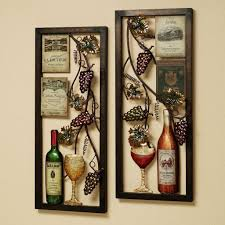 Kitchen Vintage Metal Grape And White Art Frames For Kitchen Wall