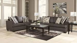 ashley nolana charcoal sofa and love dream rooms furniture set
