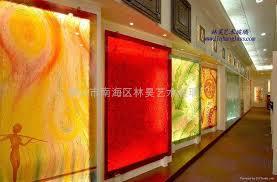 Engraved Glass Wall Beautiful Decoration