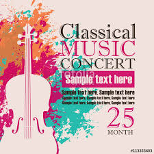 Music Concert Poster For A Of Classical With The Image Violin On