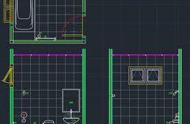 bathroom accessories free cad block and autocad drawing