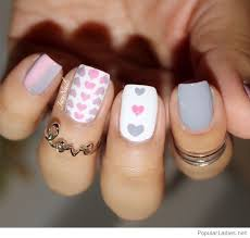 grey and white gel nails design