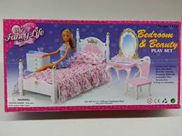 Barbie Living Room Furniture Set by Amazon Com My Fancy Life Barbie Size Dollhouse Furniture Bed