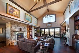 Bright Cube Bookcase In Living Room Rustic With Large Window Next To Chandelier Alongside