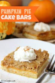 Pumpkin Pie Cake Bars Bitz & Giggles