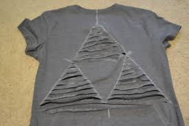 Guest Post DIY Triforce Cut out T shirt Alteration