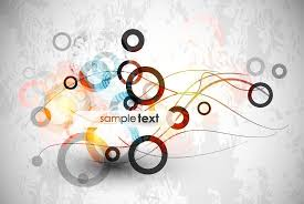 Abstract Circle Backgrounds Art Design Vector