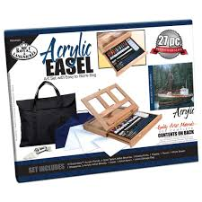 Michaels Canada Art Desk by Royal Brush Acrylic Easel Set With Storage Bag