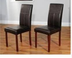 Parsons Chairs Walmart Canada by Faux Leather Parson Dining Chair Set Of 2 Walmart Com