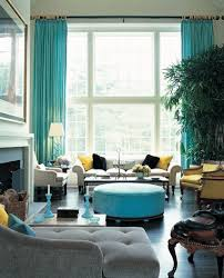 Sea Blue Living Room Design