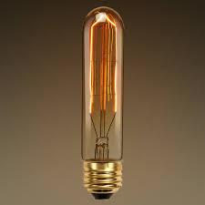20w antique light bulb t10 tubular style clear