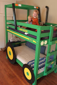John Deere Bedroom Pictures by Build Your Kids A Tractor Bunk Bed