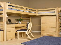 Desk Bunk Bed Combination by Natural Wooden Bunk Bed Combination With Natural Wooden Side Table