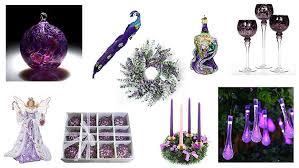 Purple Christmas Tree Decorations Ornaments Unique