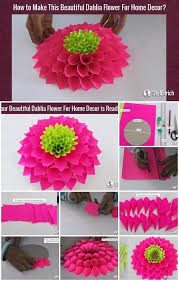 Modular Paper Dahlia Flower Tutorial