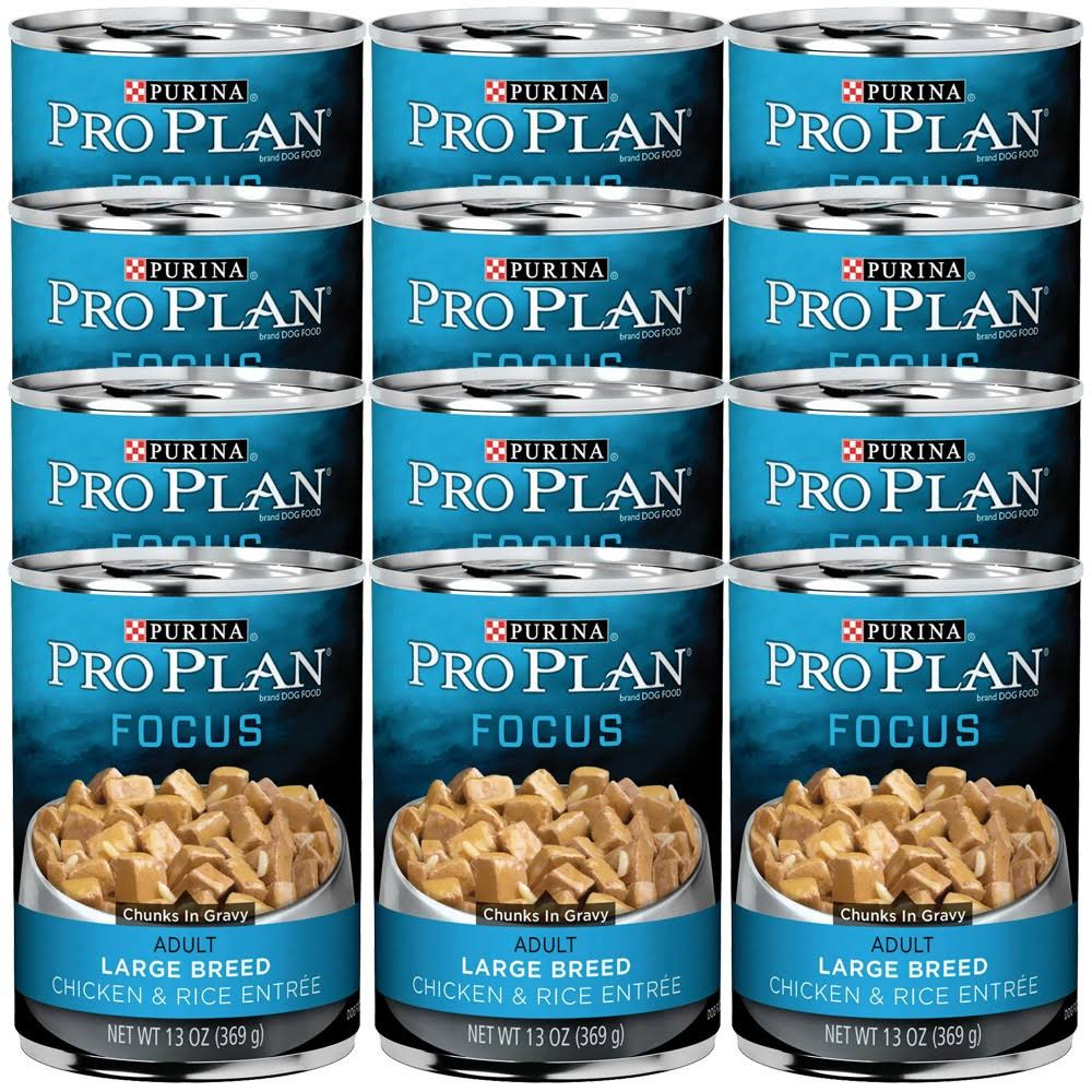 Purina Pro Plan Dog Food - Chicken and Rice Chunks In Gravy, 13oz