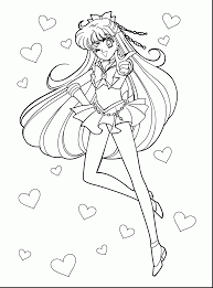 Impressive Anime Sailor Moon Coloring Pages With Manga And Cartoon