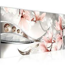 wandbilder blumen 100x40 cm magnolien vlies leinwand