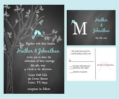 Love Bird Chalkboard Wedding Invitation Template