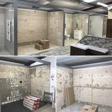 Aufregend Bathroom Images White Subway Floor And Grey Tiled Vanities