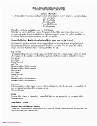 Work From Home Resume For Teenager First Job Unique Elegant Examples Pdf