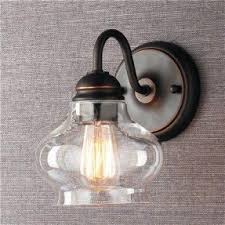 clear glass wall sconce foter