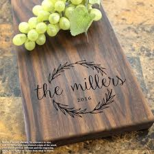 Olive Wreath Personalized Cheese Board