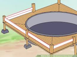8x8 Pool Deck Plans by How To Build A Deck Around An Above Ground Pool With Pictures