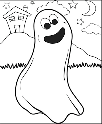 Ghost Coloring Pages Free Printable Page For Kids 3