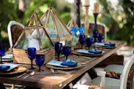 Blue Rustic Wedding Table