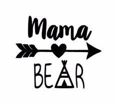 Mama Bear Decal YETI RTIC Glitter Vinyl By TwoTotsDesigns On Etsy