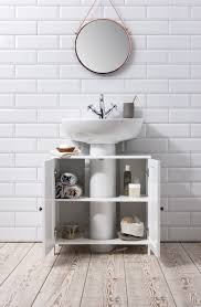 Cabidor Classic Storage Cabinet With Mirror by Bathroom Sink Cabinet Undersink In White Stow Bathroom Sink