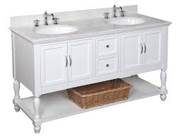 46 Inch Double Sink Bathroom Vanity by Kitchen Bath Collection Kbc667wtwt Beverly Double Sink Bathroom