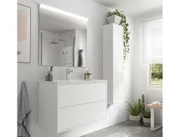 badezimmer badmöbel 80 cm ulisse aus mattweiß holz mit porzellan waschtisch abmessungen 80 cm zubehör standard