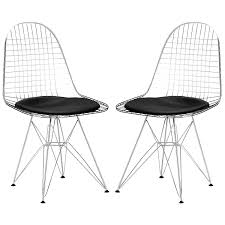 Amazon.com - Poly And Bark EM-107-BLK-X2 Hamlet Side Dining Chairs ... White Wire Diamond Ding Chair Fmi1157white The Home Depot Shop Poly And Bark Padget Eiffel Leg Set Of 2 Bottega Tower Ding Chair By Sohoconcept Luxemoderndesigncom Commercial Gold Leaf Shape Metal Chairgold Color Bellmont Bertoia Of Rose Harry Oster Black Project 62 In 2019 4 Wire Ding Chairs Black With Cushion 831 W Green Cushion Zuo Eurway Holly Reviews Joss Main Hashtag Bourquin Wayfair Simple Hollow For Living Room