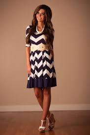 navy white chevron modest dress affordable modest boutique