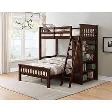 member s mark gabriel twin over full loft bunk bed with bookshelf