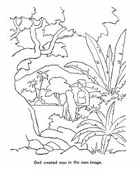 6th Day Of Creation Colouring Pages In Bible Coloring Days Printable