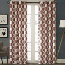 mercury row leena printed dot light filtering single curtain panel