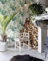 wohnzimmer tapete gemalte kakteen in blüte dschungelgrün 138902