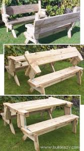 one piece folding bench picnic table home improvement