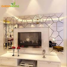 25x100 cm geometrische muster acryl spiegel wandaufkleber wohnzimmer wandkunst aufkleber angebracht die eingang korridor