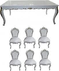 casa padrino barock esszimmer set weiß weiß gold esstisch