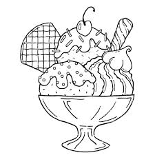 For Kids Ice Cream Sundae Coloring Pages 95 Picture With