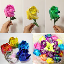 10pcs Lot 50cm X 70cm Origami Paper For DIY Handmade Rose Mixed Color Hand Rubbed Craft In Figurines Miniatures From Home Garden On