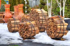 portable circular outdoor firewood storage rack with wooden base ideas
