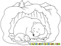 Sleeping Bear Coloring Sheet 2017 With Hibernation Colouring Pages Clipartjpg