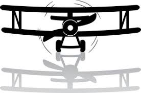 Plane Clipart Image clip art illustration of a black and white Bi Plane