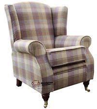 new next sherlock gosford armchair footstool pink tartan anta