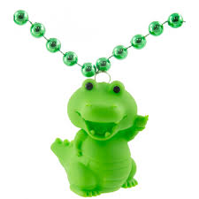 Flashing Christmas Tree Lights Necklace by Light Up Alligator Necklace On Green Beads Lmp001 1233